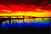Yorktown Framed Prints - Yorktown Bridge Sunset Framed Print by Bill Cannon