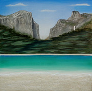 Yosemite Painting Originals - Yosemite Beach by John Lyes