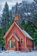 Scenic Prints - Yosemite Church Print by Cat Connor