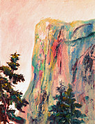 El Capitan Painting Prints - Yosemite El Capitan Print by Carolyn Jarvis