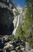 Landscape Prints Framed Prints - Yosemite Falling Beauty - Waterfall Photos Framed Print by Laria Saunders
