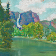 Yosemite Painting Originals - Yosemite Falls by Dorothy Jenson