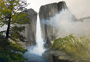 Yosemite Paintings - Yosemite Falls by Robert Duvall
