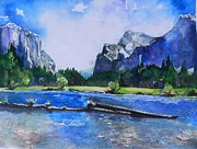 Yosemite Paintings - Yosemite Friendly Summer by Connie Lynn Pico