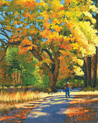 Yosemite Painting Originals - Yosemite in Autumn by Alice Leggett
