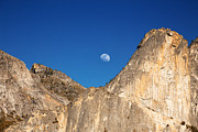 Moonrise Prints - Yosemite moonrise Print by Jane Rix