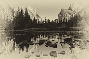 Merced River Prints - Yosemite National Park Valley View Antique Print   Print by Scott McGuire