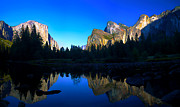 Manipulated Posters - Yosemite Reflections Poster by ABeautifulSky  Photography