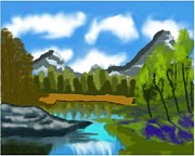 Yosemite Painting Originals - Yosemite by Shreya Sham