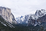 Yosemite Photos - Yosemite Tunnel View In Winter by Priya Ghose