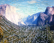 Yosemite Mixed Media Posters - Yosemite Valley Fun Poster by Glenn McNary