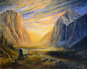 Yosemite Paintings - Yosemite Valley Heritage by James Corwin