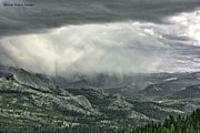 Chuck Kuhn Prints - Yosemite Valley Rain Print by Chuck Kuhn