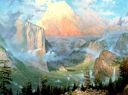Kinkade Prints - Yosemite Valley Print by Thomas Kinkade