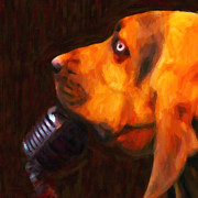 Humor Digital Art - You Aint Nothing But A Hound Dog - Dark - Painterly by Wingsdomain Art and Photography