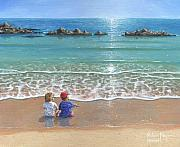 Realist Painting Framed Prints - You and Me Framed Print by Richard Harpum