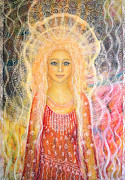 Spiritual Portrait Of Woman Paintings - You are a shining star by Lila Violet