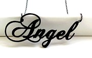 Long Chain Jewelry Originals - You Are My Angel Topography Necklace by Rony Bank