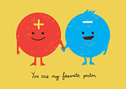 Together Digital Art Posters - You are my favorite proton Poster by Budi Satria Kwan