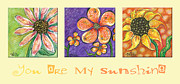 My Baby Posters - You Are My Sunshine Poster by Tanielle Childers