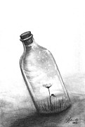 Bottle Drawings - You Are Not Your Mistake by J Ferwerda