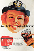 Business Woman Posters - You Bet its Delicious - Coca Cola Poster by Nomad Art And  Design