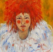 Female Clown Paintings - You Dont Know Me by Sandra Cutrer
