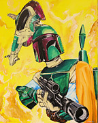 Boba Fett Paintings - You Feelin Lucky Punk by Chris  Leon