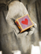 Book Cover Photo Prints - You hold my heart in your hand Print by Edward Fielding