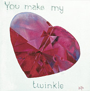 Twinkle Framed Prints - You make my heart twinkle Framed Print by Jette Van der Lende