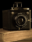 Brownie Prints - You push the button we do the rest Kodak Brownie Vintage Camera Print by Edward Fielding