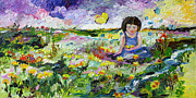 Impressionistic Oil Paintings - You Will Find me By The brook Where The Butterflies Live by Ginette Callaway