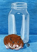 Aceo Original Originals - You Wont See Me In That Jar by Sherry Goeben