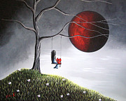 Child Swinging Paintings - You Would Have Been So Proud Of Her by Shawna Erback by Shawna Erback