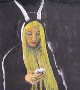 Cellphone Painting Posters - Youko The Devil  Poster by Charles  Daley