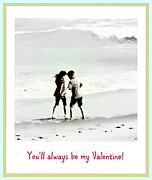 Holding Hand Posters - Youll Always Be My Valentine Poster by Susanne Van Hulst