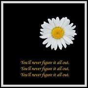 Behaviors Prints - Youll Never Figure it all Out Print by Barbara Griffin