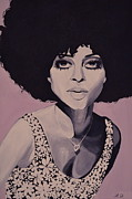 70s Paintings - Young and Beautiful Diana by Lakeisha Phillips