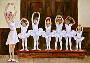 Ballerinas Prints - Young Ballerinas Print by Sherri Crabtree