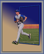 Baseball Photographs Posters - Young Baseball Athlete Poster by Thomas Woolworth