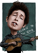 Bob Dylan Digital Art - Young Bob Dylan by Andre Koekemoer