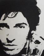 Bruce Springsteen Painting Prints - Young Boss Print by IDGoodall