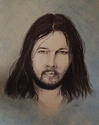 Pink Floyd Drawings Posters - Young David Gilmour Poster by Freddy  Smith