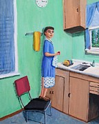 Genre Paintings - Young Dishwasher by Gregory Dorosh