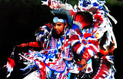 Pow Wow Posters - Young Fancy Dancer 2 Poster by Terril Heilman