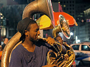 Jason Neely Acrylic Prints - Young Fellaz Brass Band - New Orleans Acrylic Print by Jason Neely