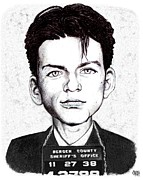 Frank Sinatra Art - Young Frank Busted by Vince Plzak