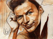 Frank Sinatra Painting Originals - Young Frank Sinatra by Gregory DeGroat