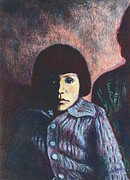 Impressionism Lithograph Posters - Young Girl in Blue Sweater Poster by Kendall Kessler