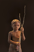 Boy Sculpture Posters - Young Guardian Poster by Mary Buckman
